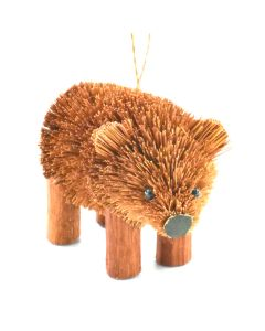 Brown Bear Bristle Ornament