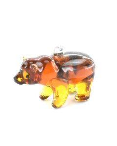 Grizzly Bear Glass Ornament