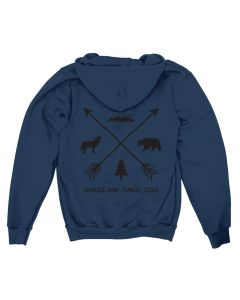 Adult Navy Forest Icons Hoodie