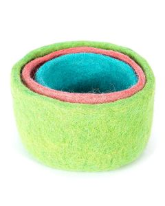 Felted Nesting Bowls (Set of 3)
