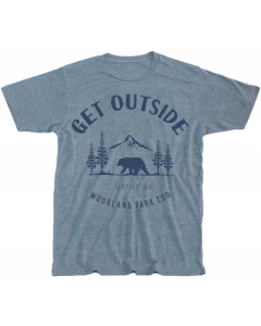 Adult Blue ''Get Outside'' Tee