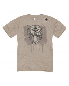 Adult Tiger with Dripping Stripes Tee
