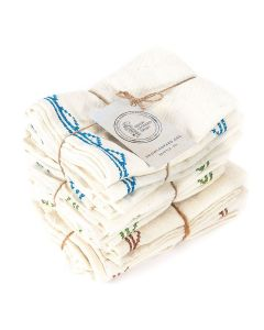 Embroidered Napkins - Tribal Design
